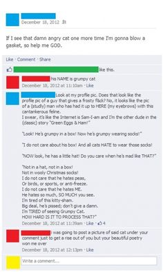 This guy is REALLY (poetically) tired of Grumpy Cat. WIN!