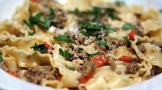 Pappardelle and Lamb Meat Sauce glasses, fall recipes, noodl, pasta sauces, meat sauc, bags, lamb meat, red wines, meal