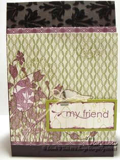 Card using Stampin'Up! My Friend stamp set