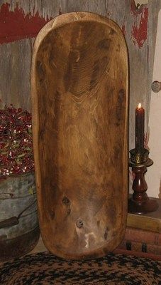 Long Wood Dough Bowl Trencher*Primitive Table Centerpiece