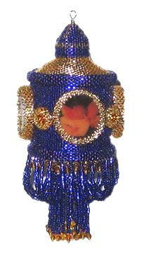 Cherubic Music Beaded Ornament Cover Pattern by Brisingamen at Bead-Patterns