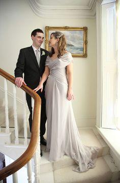real bride silver wedding dress