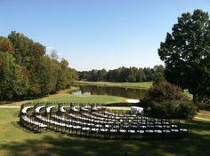 Beautiful Half Circle Seating Arrangement for a Fall Wedding