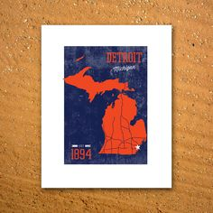 Detroit Tigers Print by UniversityPrints on Etsy, $8.00