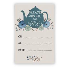 parti invit, tea parti, bear tea, tea party paper, parties, invit printabl, tea party invitations, invites party tea, tea party invites