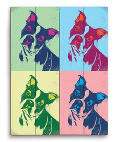 Take a look at this Boston Terrier Wall Art by PetPictures on #zulily today!