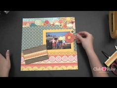 cutting out favorite elements from pattern paper