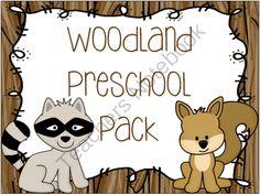 Woodland Animal Preschool Pack from Creative Learning Fun (122 pages)  - This woodland animal preschool themed pack is full of hand's on activities your preschooler will love!