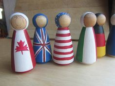 This would be a cute way to match flags to the wooden map - more durable than pins too