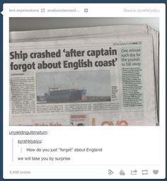 When they found out about England's secret plan. | 36 Times Tumblr Proved It Was The Funniest Place On The Internet