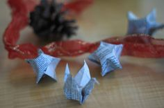Go Green with DIY Holiday Decorations. Have a create-your-own-decorations party with family and friends. Create decorations from old greeting cards or cookie dough. Make origami stars from old newspapers and garland with popcorn or cranberries. Or try making potpourri made from spices such as cinnamon and cloves.  http://www.epa.gov/waste/wycd/winter.htm