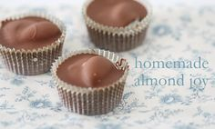 homemade almond joy, sweet, almonds, food, yummi, recip, homemad almond, homemade candies, dessert