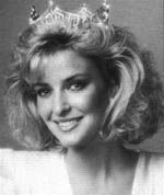 """Sharlene Wells (Utah)    Sharlene is the only foreign-born, bilingual Miss America ~ she played the Paraguayan harp and sang in Spanish for her talent presentation at the Miss America pageant in front of a record television audience of over 100 million.     Sharlene returned to her studies at Brigham Young University where she not only graduated magna cum laude, but received the Earl J. Glade award as the Outstanding Senior in Broadcasting, and the Silver Microphone Award for having the top cumulative GPA in the Communications Department.    In 1987, Sharlene became one of the first women to work on-air for ESPN, and for 15 years she covered world-class events.    Since 2005, Sharlene has been Partner and Chief Marketing Officer of StoryRock, Inc., the leading provider of core technology for interactive and print historical archiving. She is also the acting President of the Remember My Service Division of StoryRock, which she founded, and is the only full service provider to assist Military Commands in documenting their history.    Previous to joining StoryRock, she was Vice President of Communications for Monarch Health Sciences. Sharlene holds a Master's Degree in Organizational Communication from the University of Utah and is the author of """"Kissing A Frog: Four Steps to Finding Comfort Outside Your Comfort Zone.""""    Sharlene serves as Chairman of the National Advisory Board of the National Center for Veterans Studies at the University of Utah, and serves on the Executive Committee. She is President-elect of the BYU Alumni Board, and serves on the Best of State Advisory Board and Ascend Alliance Advisory Board."""