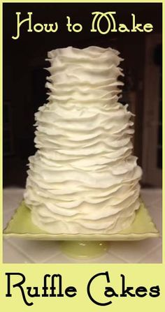 Ruffle Wedding Cake | Little Delights Cakes