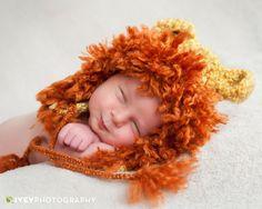 Lion King baby newborn portrait