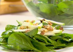 Spinach and Green Apple Salad Recipe : Ellie Krieger : Food Network - FoodNetwork.com