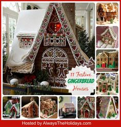 Round Up of 11 Festive Gingerbread Houses