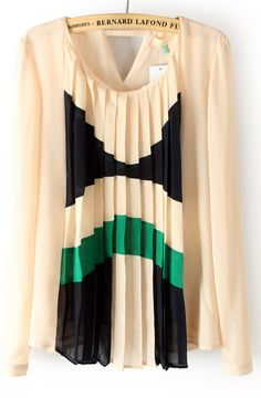 blouses, color schemes, beig pleat, chiffon blous, woman clothing, clothing stores, bold colors, boho fashion, shirt