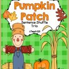 This fall themed Sentence Shuffle Trio packet is on the 3rd grade reading level and is aligned with 2nd, 3rd, and 4th grade Common Core Standards. Includes printables for interactive journals, fluency center, and more.  $ ...