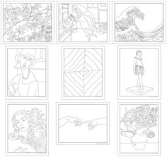 coloring book of the masters