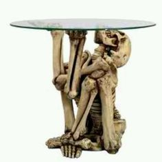 coffee tables, halloween parties, skull, side tables, gothic furniture, random thought, end tables, skeleton, table designs