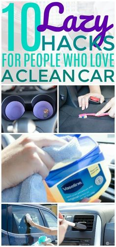 These car cleaning hacks are THE BEST! I'm so glad I found these GREAT cleaning and organization tips! Now I have great ways to keep my car clean and tidy! #cleaninghacks #organizationhacks #cleaningtips #organizationtips#organizationideas