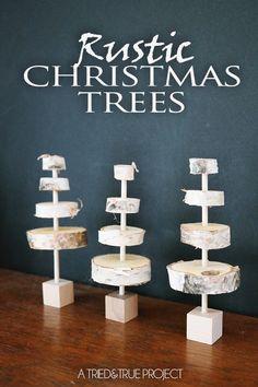 MINI RUSTIC CHRISTMAS TREES