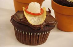 Cowboy cupcakes for a Cowboy Theme Day or party? I think yes.