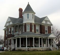 A Victorian house in Elwood, IN.