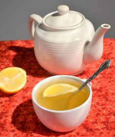 Soothing Lemon Ginger and Honey Tea - Especially good if you are feeling sick...but good any time - from Food Doodles