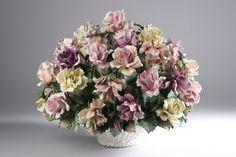 Capodimonte Floral Centerpieces   ... Kenyon, LLC Image 1 LARGE CAPODIMONTE PORCELAIN FLORAL CENTERPIECE