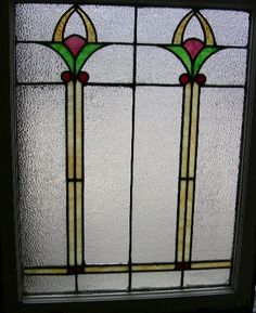 1920s Stained Glass Window Leaded Glass From Chicago Privacy Window