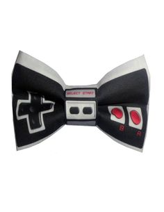 Id be smitten if my guy wore a suit with this--Nintendo Bow Tie by birties on Etsy, $20.00