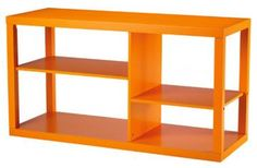 parsons media cabinet (not orange) but liked the tierd shelves