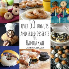 Over 50 donuts and fried desserts for #Hanukkah on OvertimeCook
