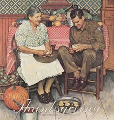 thanksgiving, norman rockwell