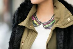 Wendy's Lookbook in our Jeweled Collar Necklace