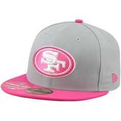 New Era San Francisco 49ers Breast Cancer Awareness On-Field Player 59FIFTY Fitted Hat - Gray/Pink