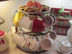 Counter Coffee Mug Tree Rack | METAL AND COPPER WINE RACKS