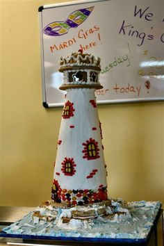 Image detail for -The Lighthouse 'cake' is made of Rice Krispie treats, rice cakes ...