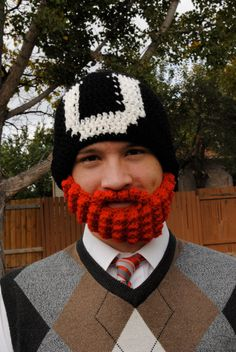 U of U beard hat crochet pattern!