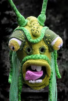 Knitted Mask, made by Tracy Widdess