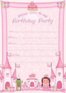 Free Printable Princess Birthday Party Invitations