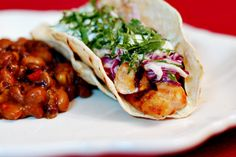 Spicy fish tacos - it's what's for dinner tonight!