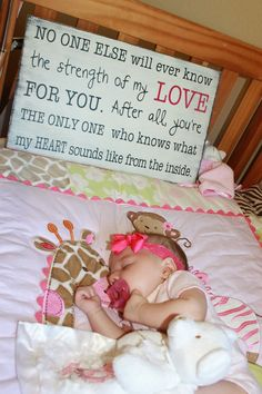 Strength of My Love Quote  Mothers Day or Baby Shower Gift by OurHobbyToYourHome,