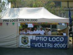 """Piazza Odicini  Stand della Pro Loco """"Voltri 2000"""""""