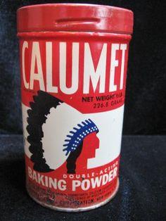 Vintage Calumet Baking Powder with American Indian