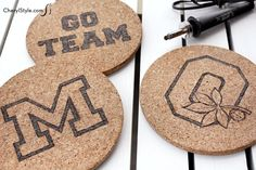 It's football season! Make DIY game day trivets - CherylStyle