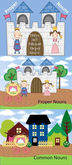 Practicing Proper Nouns with the Prince and Princess! This activity has students sort nouns into proper and common.