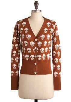 Dia de los Muertos Cardigan, #ModCloth
